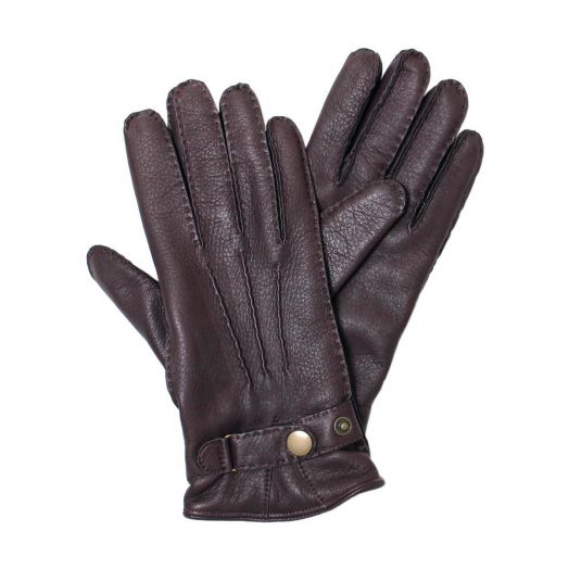 Deerskin Leather Gloves Lined With Cashmere