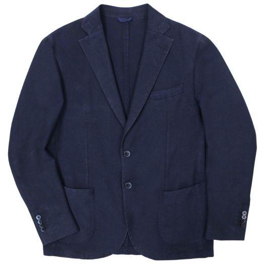 Navy Lightweight Wool and Mohair Blend Blazer