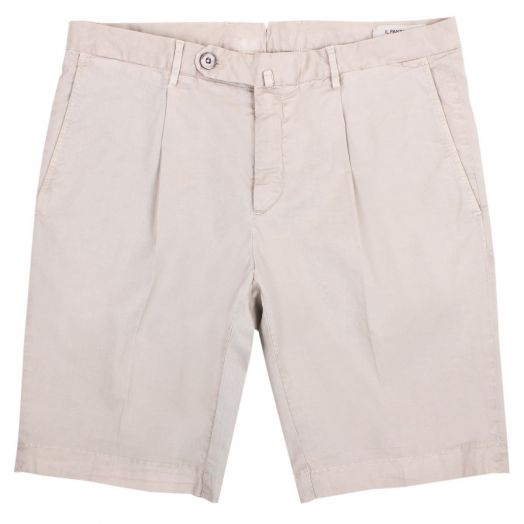 Khaki Cotton Stretch Chino Shorts