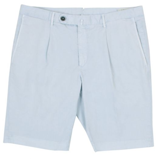 Light Blue Cotton Stretch Chino Shorts