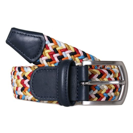 Multi Colour Elastic Woven Belt