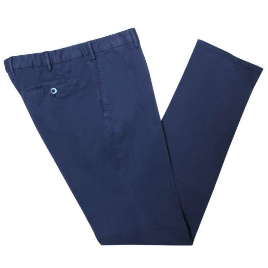 Navy Slim Fit Cotton Chino