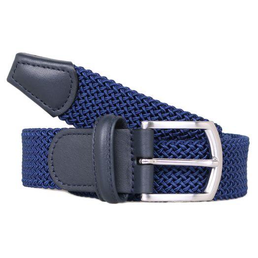 Navy Woven Elastic Belt