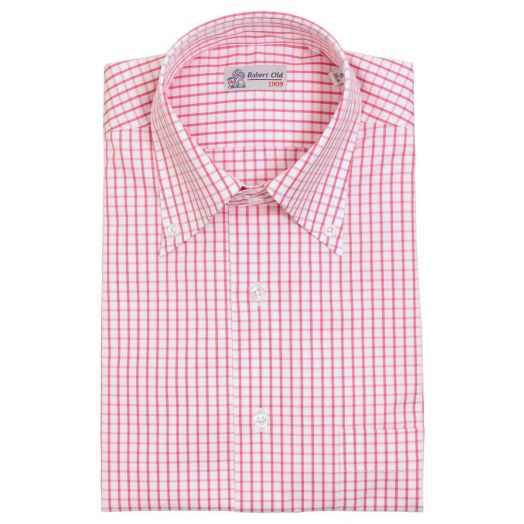 Rouge Pink Classic Check Short Sleeved Shirt