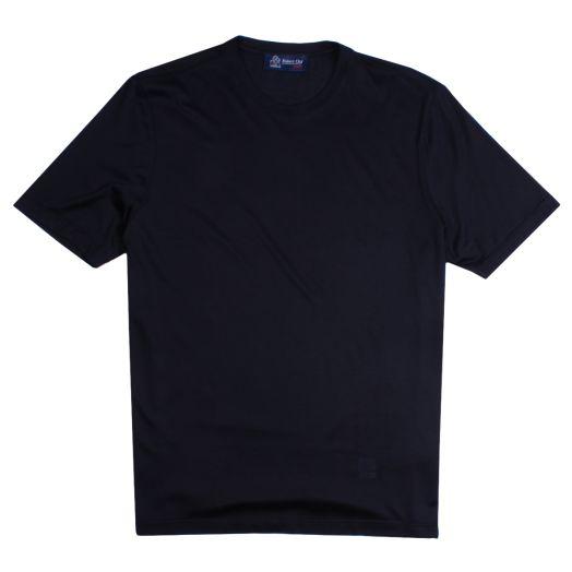 Black Pure Silk T-Shirt