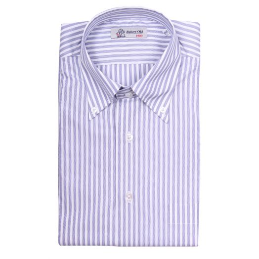 Blue Stripe Swiss Soyella Cotton Shirt