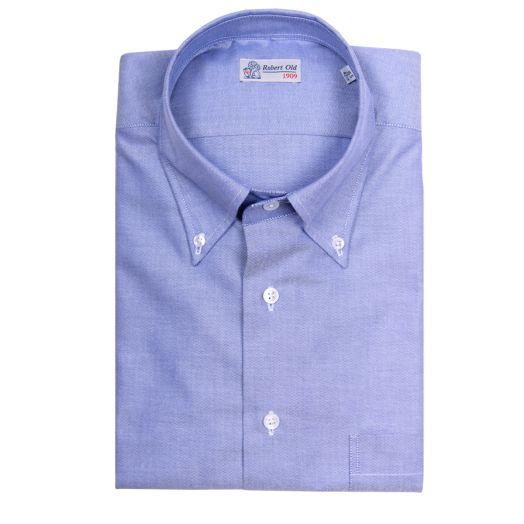Blue Twill Swiss Cotton Oxford Shirt