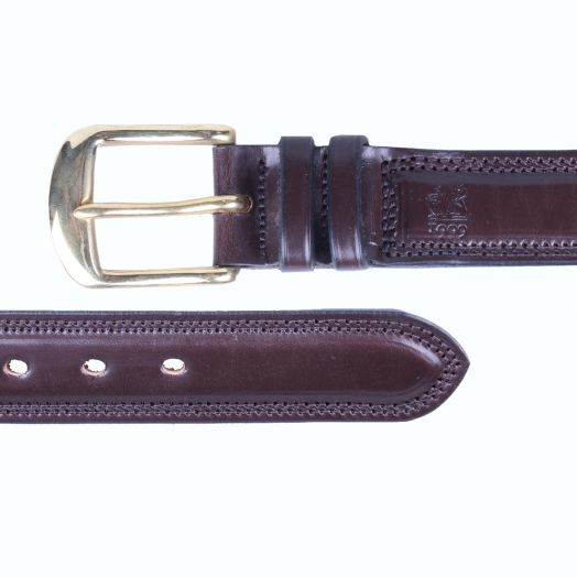 Dark Brown 'Itchen' Bridle Hide Leather Belt
