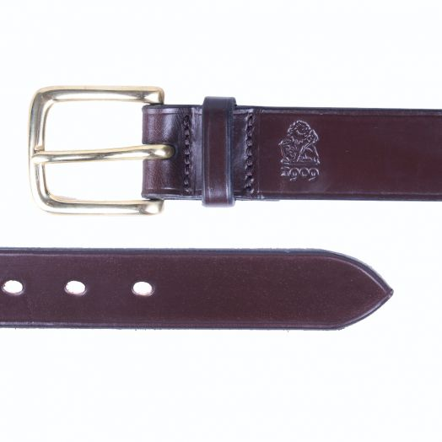 Dark Brown 'Stour' Bridle Hide Leather Belt