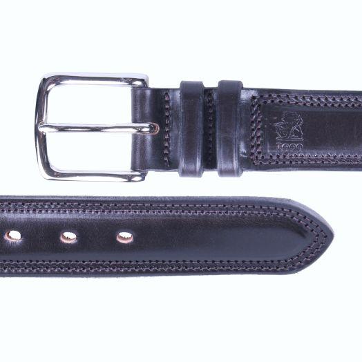 Dark Chocolate 'Test' Bridle Hide Leather Belt