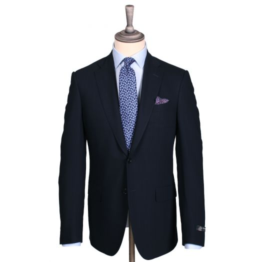 Dark Navy Merino Wool Traveller Suit