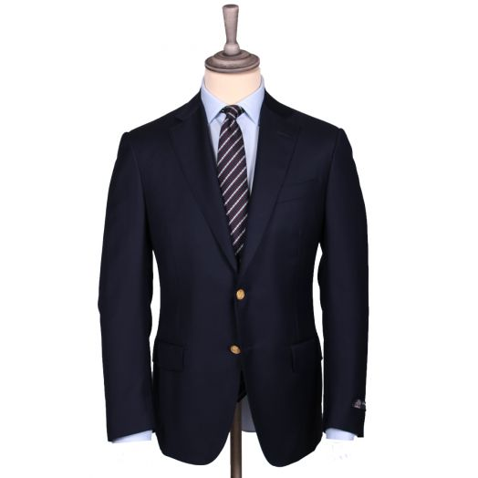 Dark Navy Wool Signature Blazer
