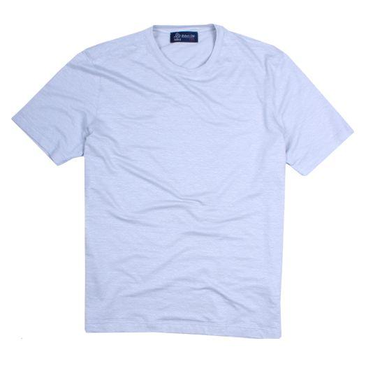 Grey Melange Natural Stretch Linen T-Shirt