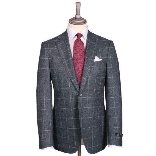 Grey & White Overcheck Barberis Wool Suit