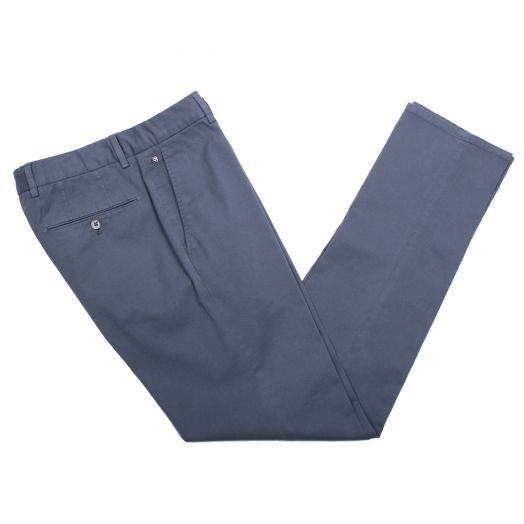 Mid-Grey Cotton Stretch Slim Fit Chinos