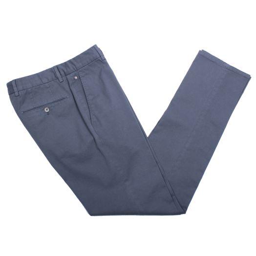 Mid-Grey Cotton Stretch Slim Fit Chinos