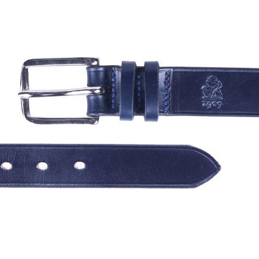 Navy 'Avon' Bridle Hide Leather Belt