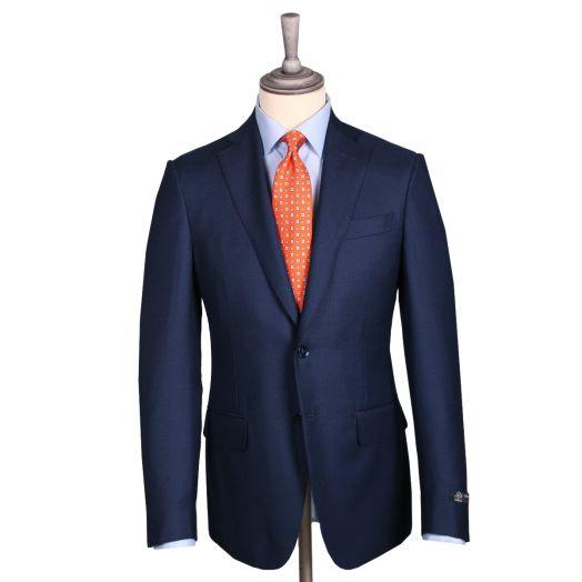 Navy Birdseye 4-Season Barberis Wool Suit