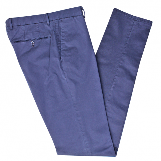 Navy Cotton Stretch Slim Fit Chinos