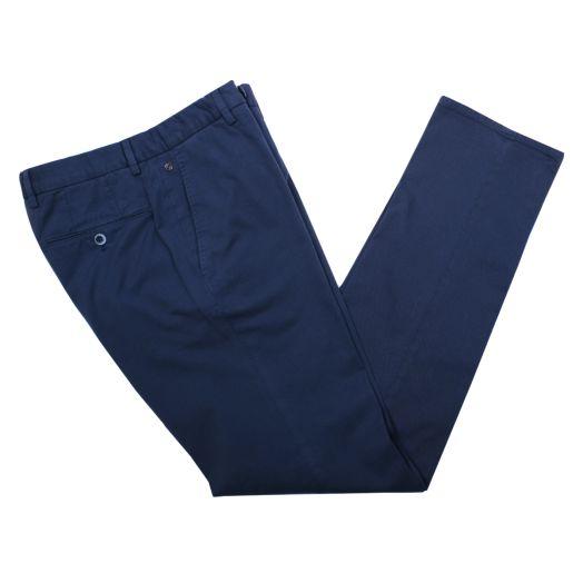 Navy Cotton Stretch Slim Fit Chinos