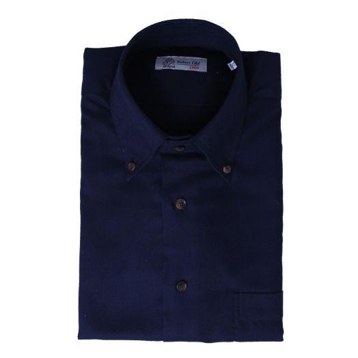 Navy Long Sleeve Cashmerello Shirt