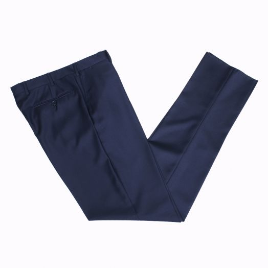 Navy 'Perennial' Barberis Wool Trousers