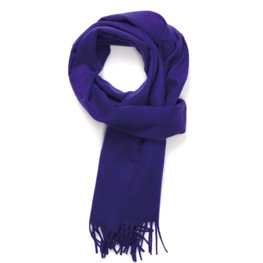 Purple Pure Cashmere Scarf