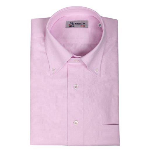 Soft Pink Swiss Cotton Oxford Shirt