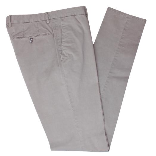 Warm Grey Cotton Stretch Slim Fit Chinos