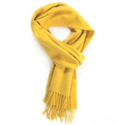 Yellow Classic Cashmere Scarf