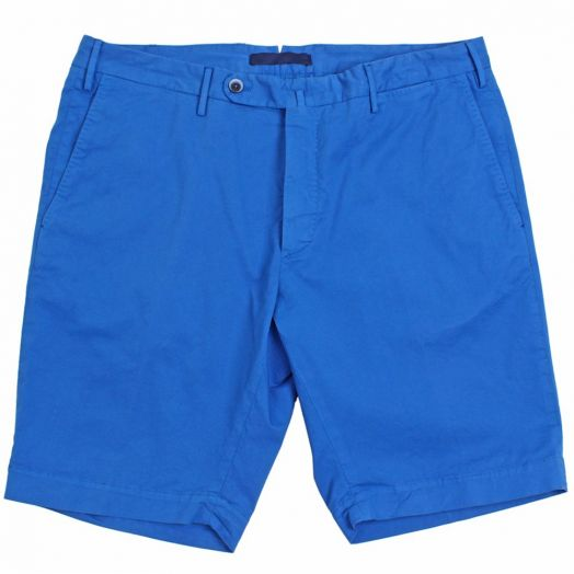 Royal Blue Slim Fit Cotton Chino Shorts