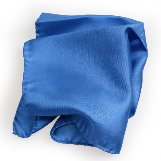Royal Blue Silk Pocket Square