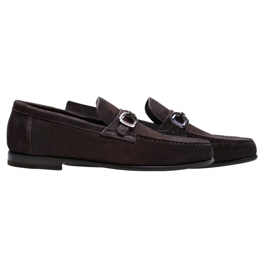 Brown Nubuck Suede Loafers