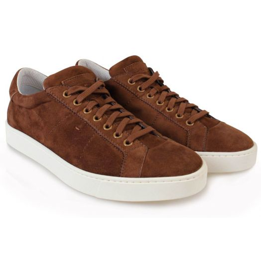 Chestnut Brown Suede Leather Sneakers
