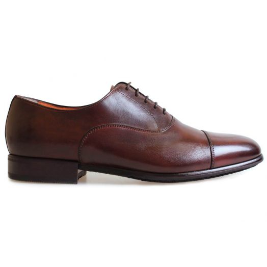 Dark Brown Deerskin Oxford Shoe