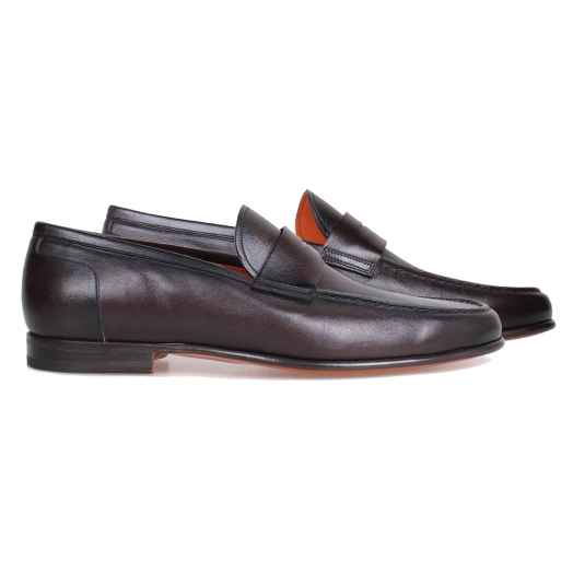 Dark Oak Brown Penny Loafer