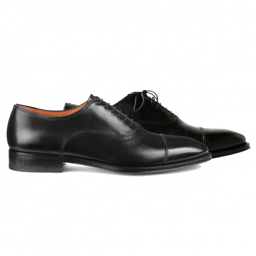 Black Lace Up Handmade Oxford Shoe