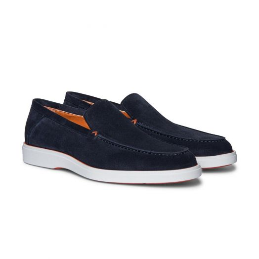 Adriatico Blue Suede Loafers