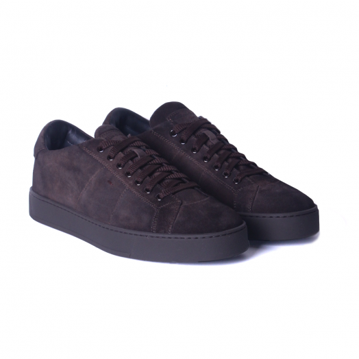 Dark Brown Suede & Black Sole Sneakers