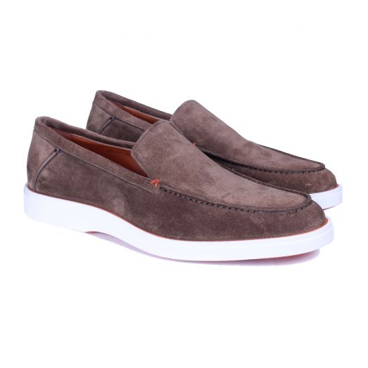 Coffee Brown Suede Loafers