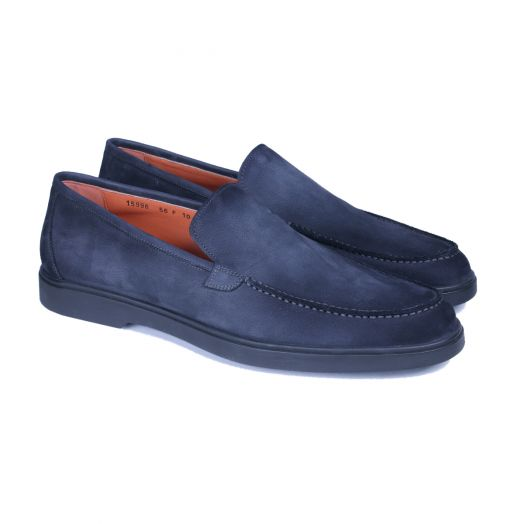 Elephant Grey Suede Slip-On Loafers