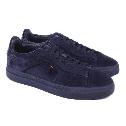 Navy Suede & Black Sole Low-Top Sneaker