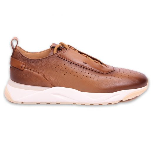 Tan Ultralight Leather Sneakers