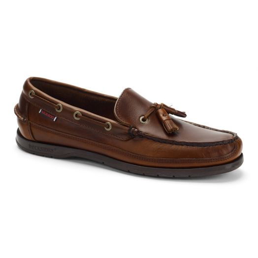 Brown Gum Ketch Waxed Leather Loafer