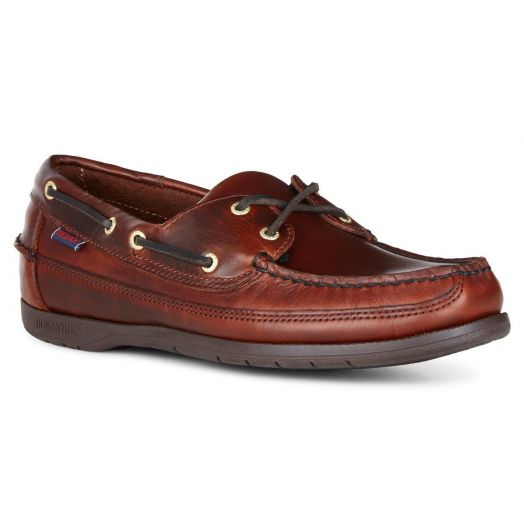 Brown Gum Schooner Waxed Leather Boat Shoe