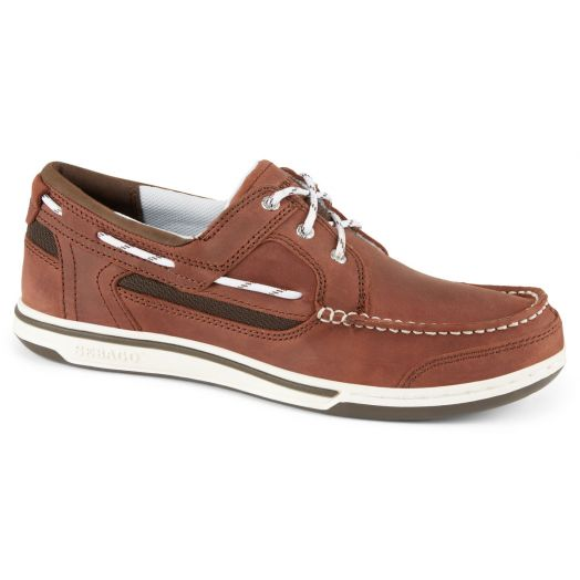 Brown Triton Leather Boat Shoe