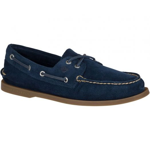 Navy Authentic Original Suede Boat Shoe