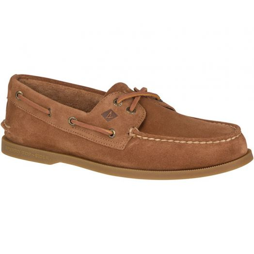 Dark Tan Authentic Original Suede Boat Shoe