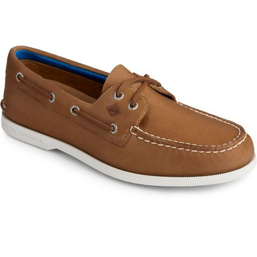 Tan Men's Authentic Original PLUSHWAVE Boat Shoe