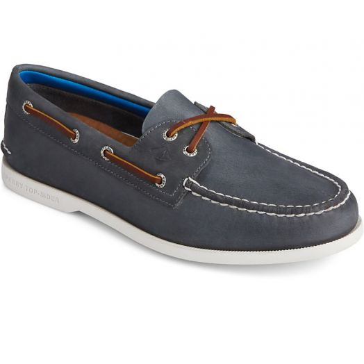 Navy Men's Authentic Original PLUSHWAVE Boat Shoe